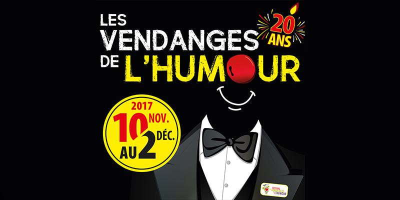 20ème édition du Festival Les Vendanges de l'humour - 10 Novembre au 2 Décembre 2017