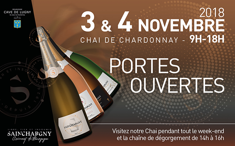Portes Ouvertes Chai de Chardonnay - Découvrez Sainchargny ! - 3 & 4 novembre 2018
