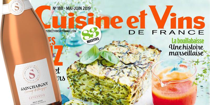 Catharsis, Crémant de Bourgogne rosé, parmi les bulles printanières de Cuisine et Vins de France